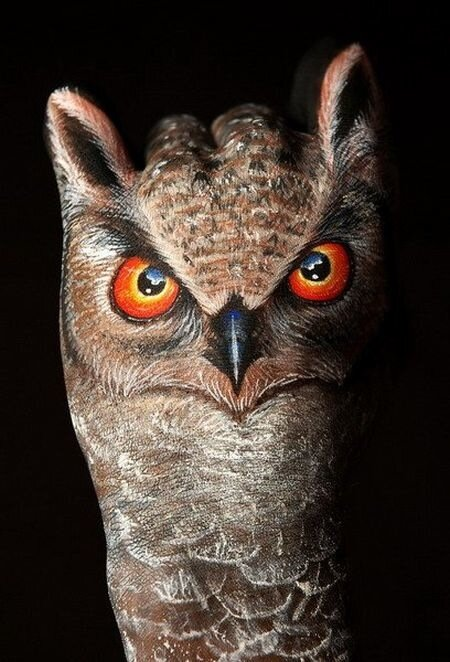 Люди птицы желают всем спокойной ночи