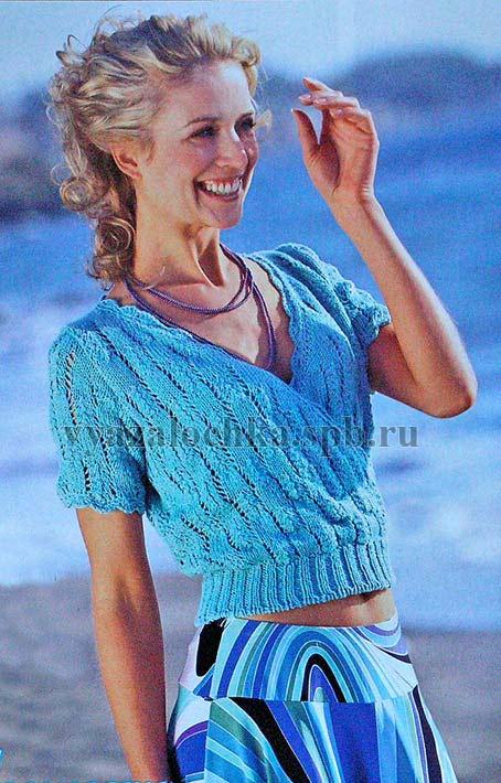пуловер с короткими рукавами крючком схема