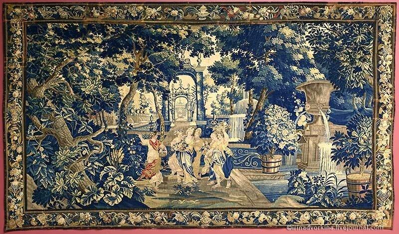 Шпалера «Нимфы в парке» (ок. 1700 г.). ГМЗ «Царицыно».