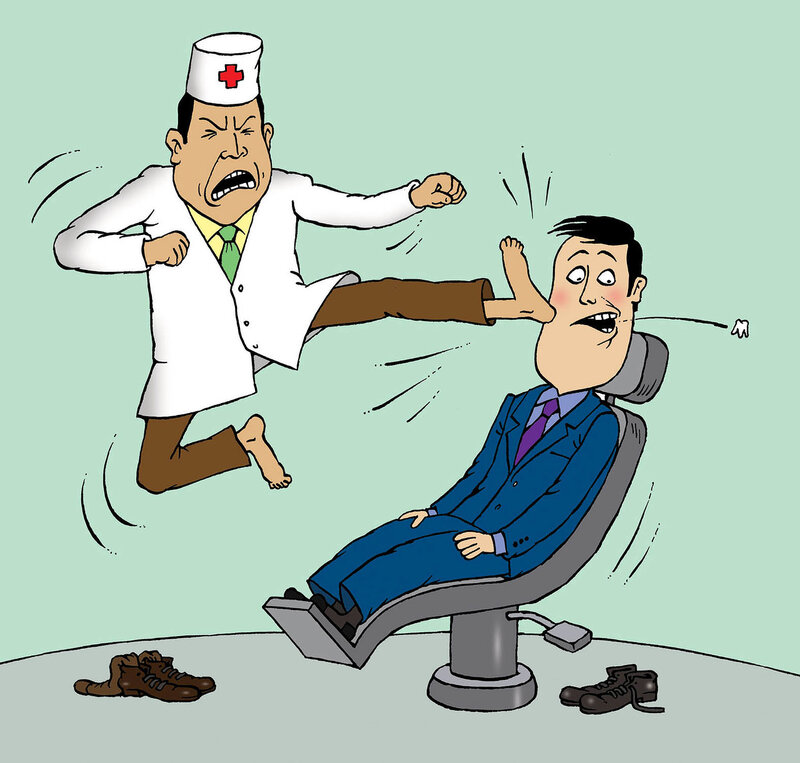 Открытка, смешной стоматолог картинка