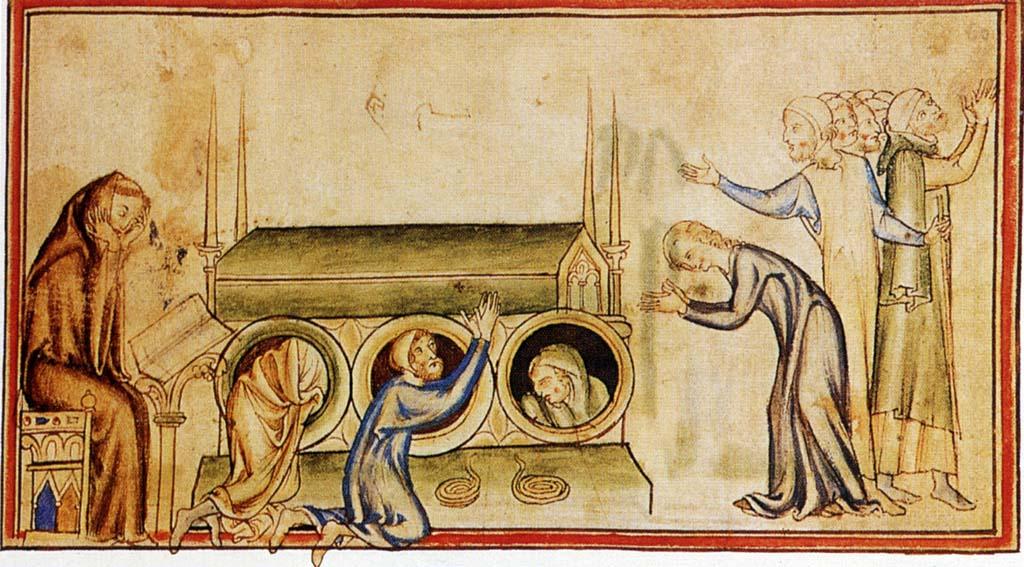 Паломники в усыпальнице