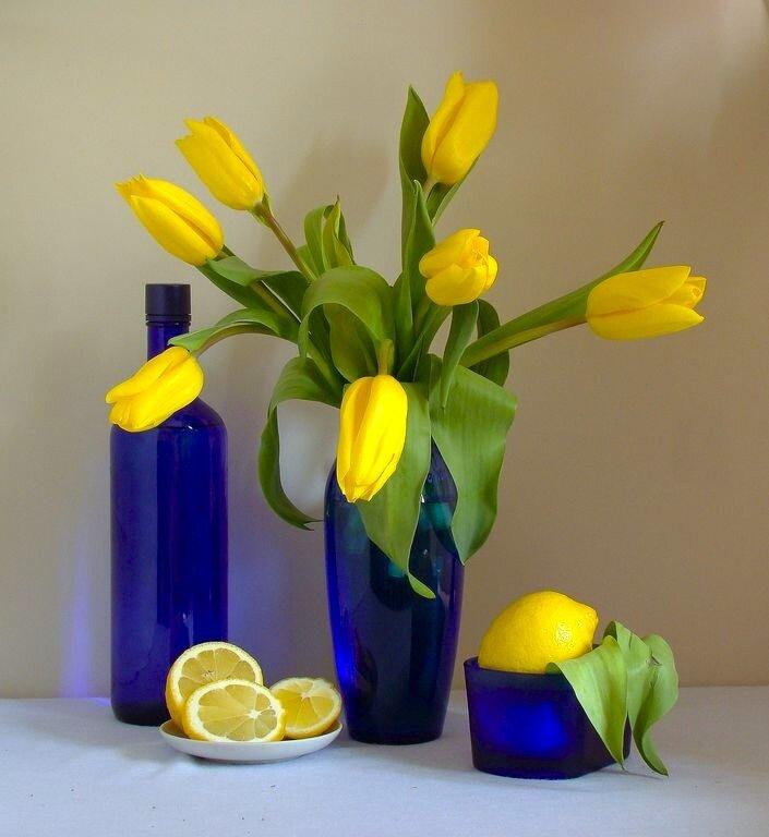 Синее и желтое