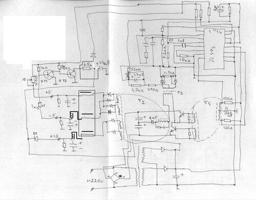 Т1 (смотри схему) 22uF.
