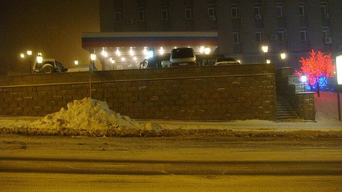 Владивосток,мэрия,ночь,зима