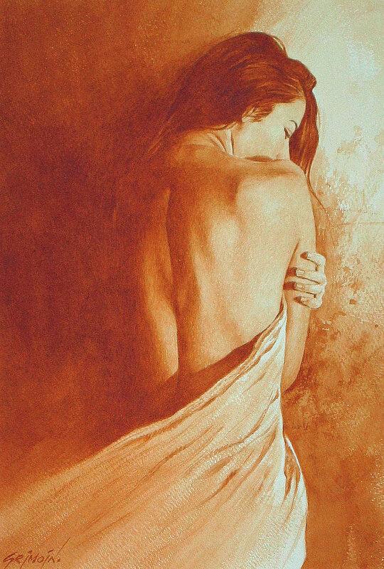 Французский художник-иллюстратор Gilles Grimoin, Акварель