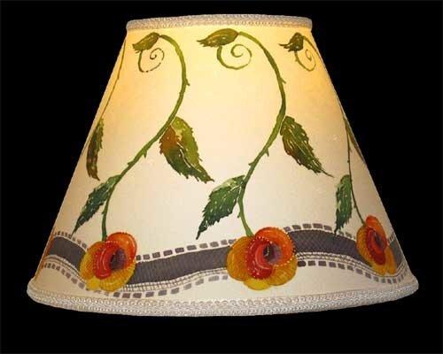роспись плафона светильника