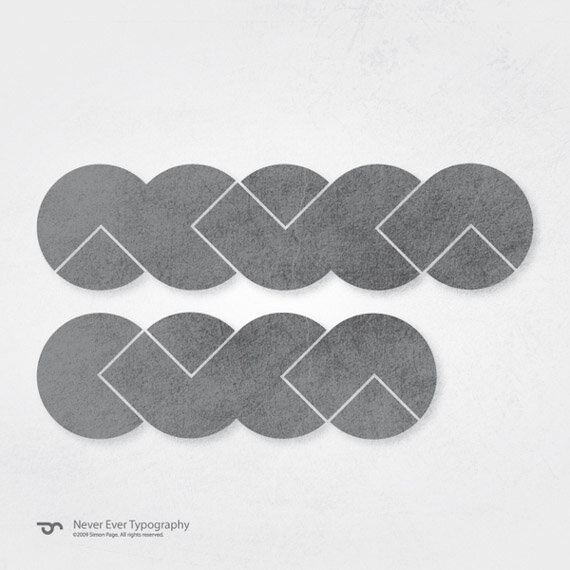 Типографические иллюстрации от Саймона Пейджа.