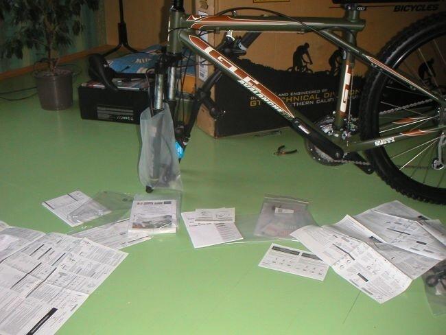 Обложился инстукиями по сбору велосипеда