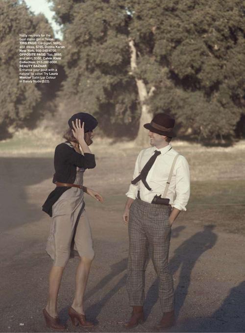 Переосмысление классики   модные Бонни и Клайд для Harpers Bazaar