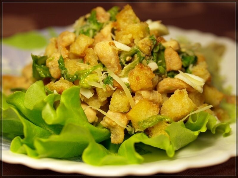 рецепты салата цезарь