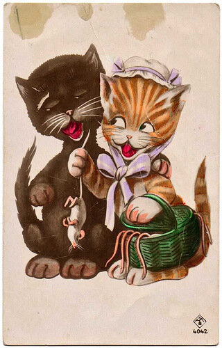Открытки с кошками любовь