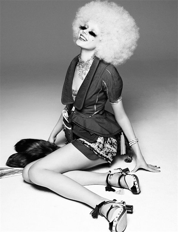 Frida Gustavsson by Greg Kadel for Vogue Germany March 2010