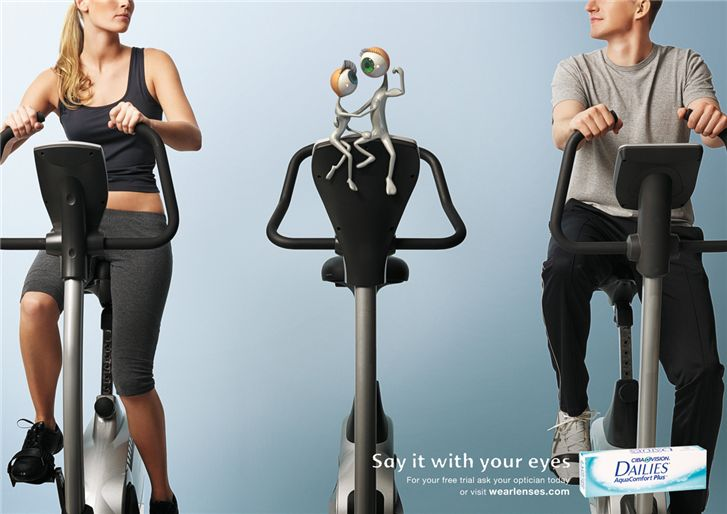 Ciba Vision - креативная реклама контактных линз