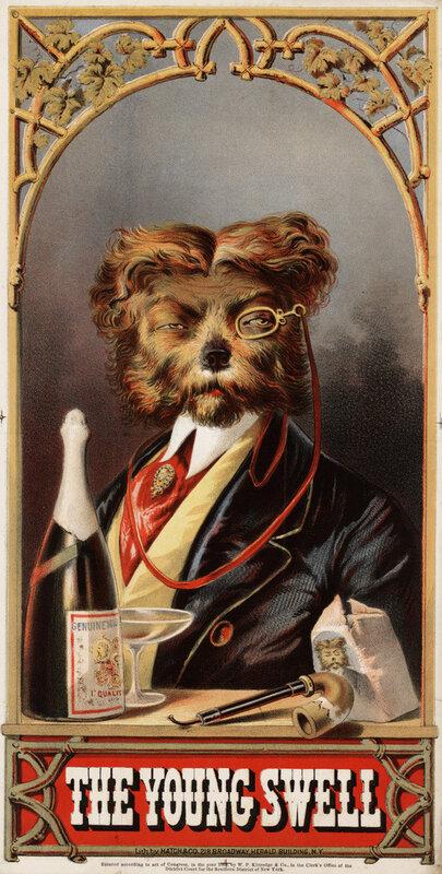 реклама американского табака,1875