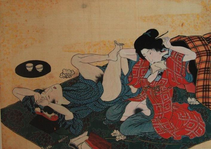 Эротические японские картинки.