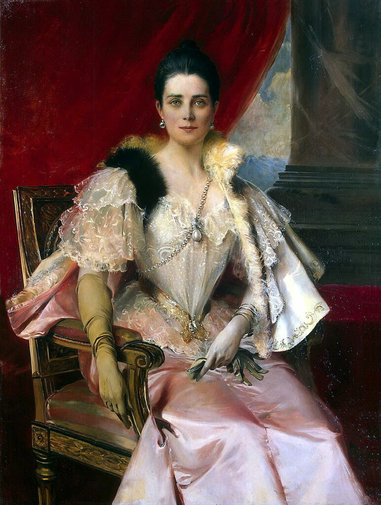 Эрмитаж: Фламенг, Франсуа - Портрет княгини З. Н. Юсуповой