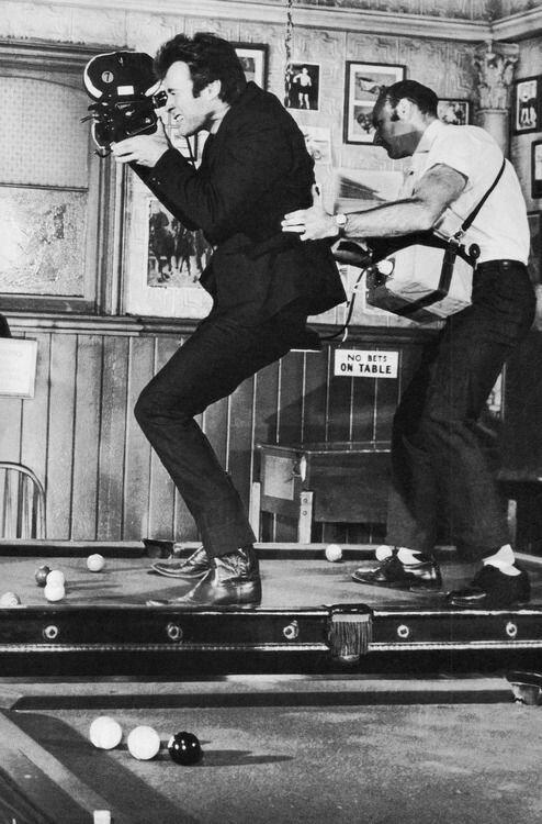 1968. Клинт Иствуд на съемках фильма «Блеф Кугана»