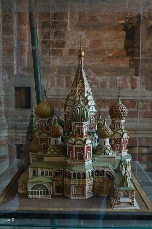 Макет церкви Покрова Пресвятой Богородицы во рву