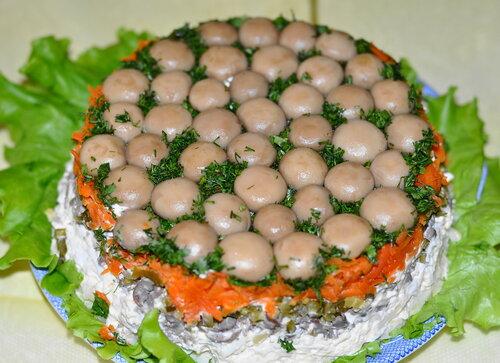 Рецепт грибного салата с фото