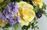 Букет Желтые розы с сиренью