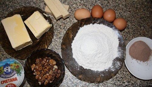 Продукты для печенья Каштаны