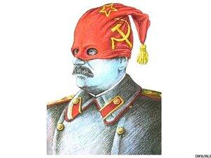 Карикатуристы представляют Иосифа Сталина в образе коммунистического палача