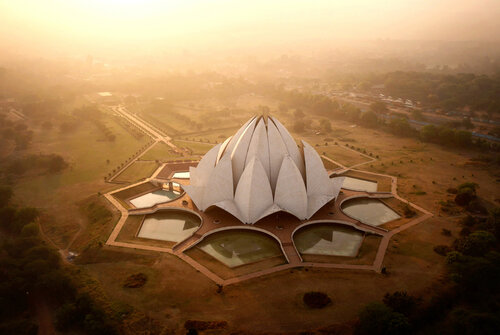 The Lotus Temple in New Delhi, India