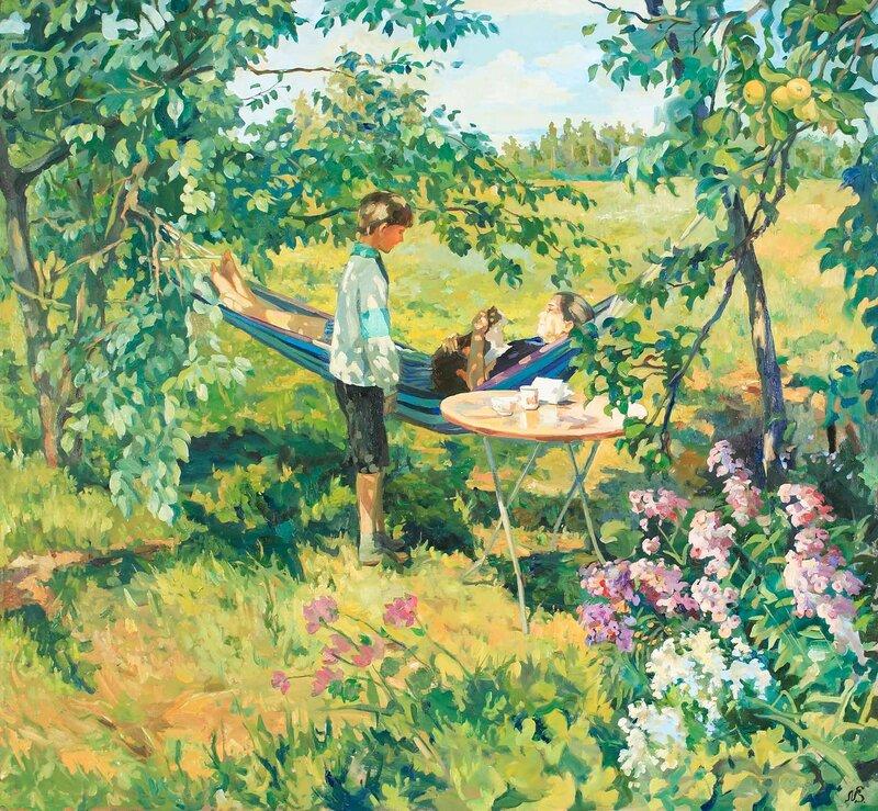 Святослав Новосадюк. Ветви яблони и ветви сливы.jpg
