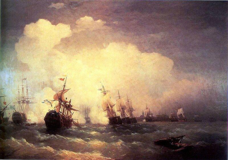 Айвазовский. Морское сражение при Ревеле (9 мая 1790).jpg