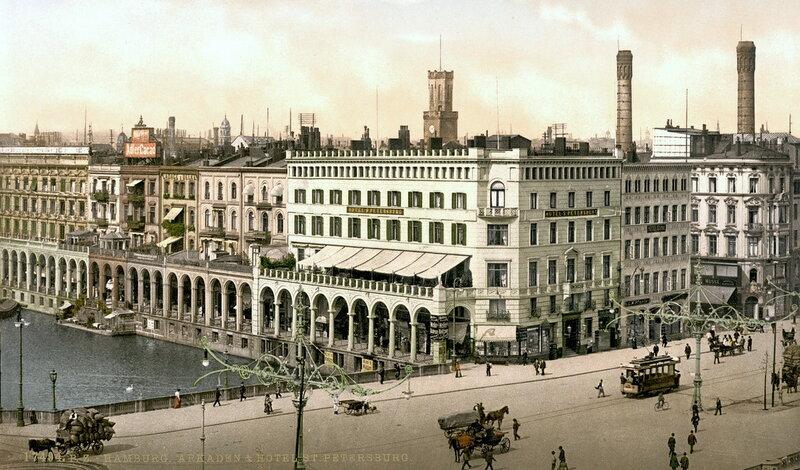 Аркады Альстер и гостиница «Санкт-Петербург». Конец XIX века