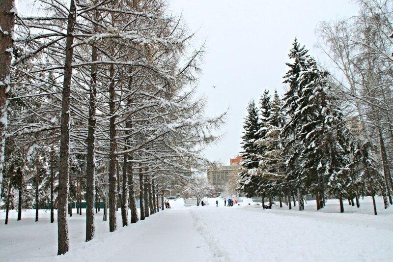 Новосибирск, Нарымский сквер (Novosibirsk, Narymsky park).