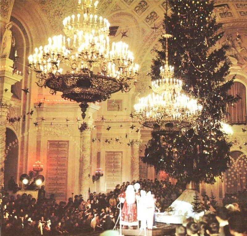 52162 Елка в Георгиевском зале Большого Кремлевского дворца 1950-е.jpg