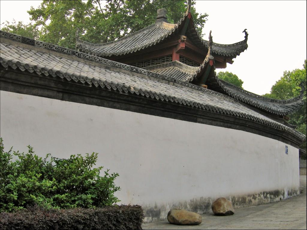 Стена, монастырь Гуйюань, Ухань