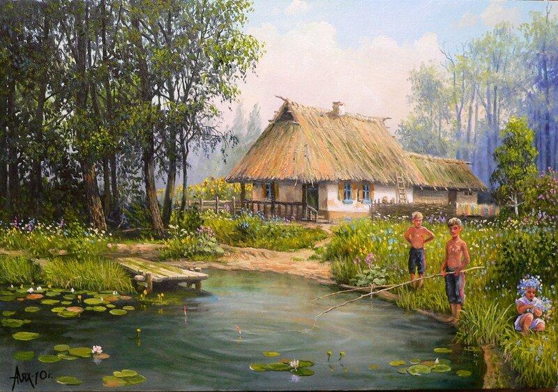На хуторе у деда