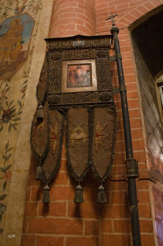 Хоругвь в подклете собора Василия блаженного