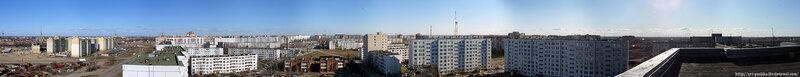 Панорама спального района Пскова