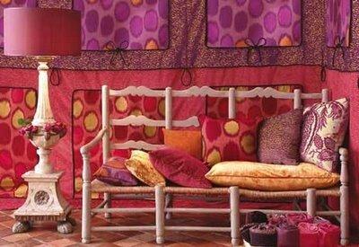 розовый цветв  интерьере декорирование своими руками