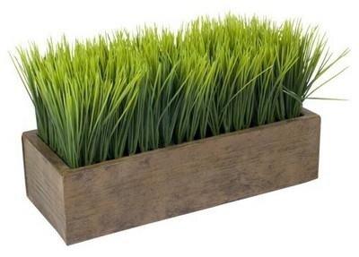 декор зеленью