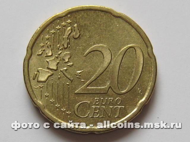 Монета 20 евро центов Германия
