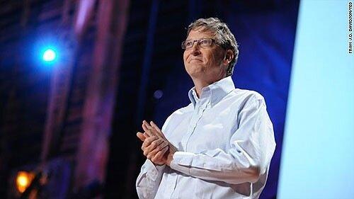 Билл Гейтс выступает на конференции TED. Фотография: Сonferences.ted.com/J.D. Davidson via Cnn.com.