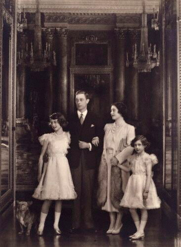 NPG P140(13), Queen Elizabeth II; King George VI; Queen Elizabeth, the Queen Mother; Princess Margaret