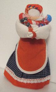 Кукла Мамка подарок и оберег материнству.  Делается по схеме куклы столбушки.  В основе закрутка из грубого льна...