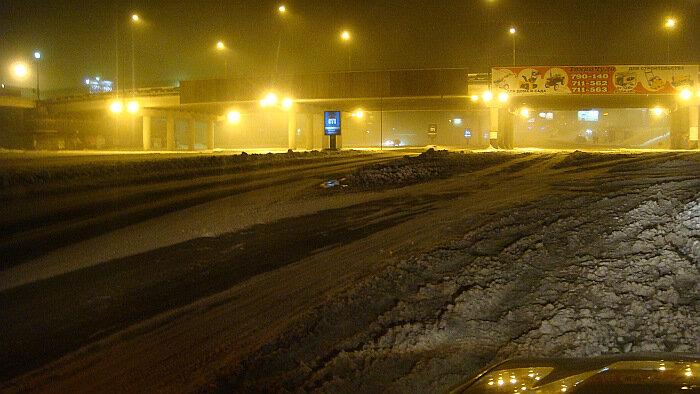 Владивосток,Баляева, снег,ночь