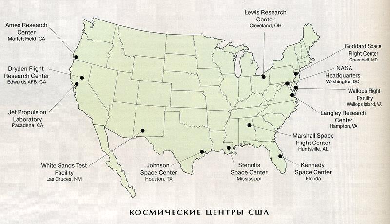 Космические центры США