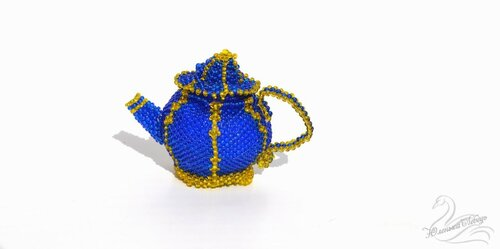Альбом пользователя Юленька_Лебедь: Чайник из бисера2.JPG