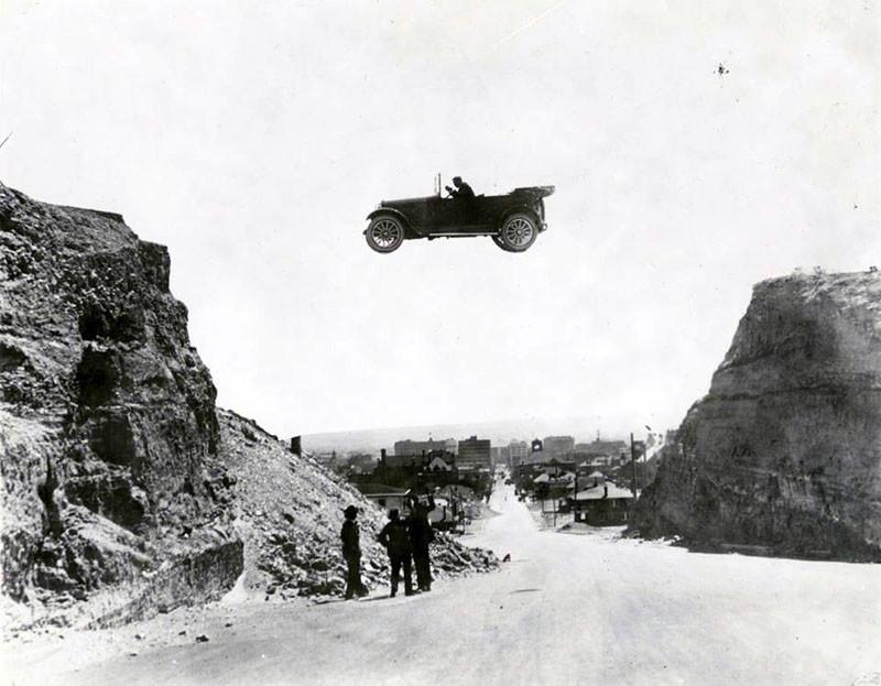 Прыжок на автомобиле. Эль Пасо (Техас), 1922 год.