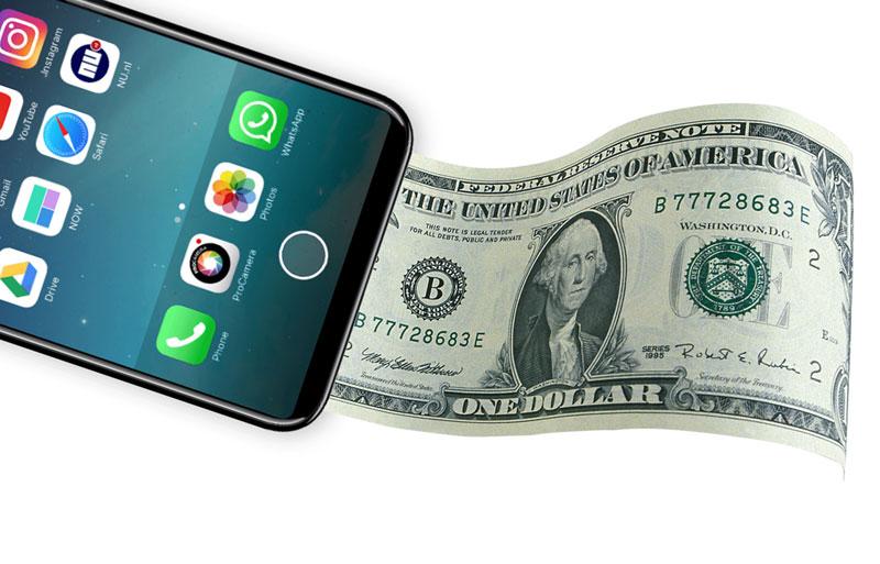 Поклонник Apple предложил добавить вiPhone 8 функцию печати денежных средств