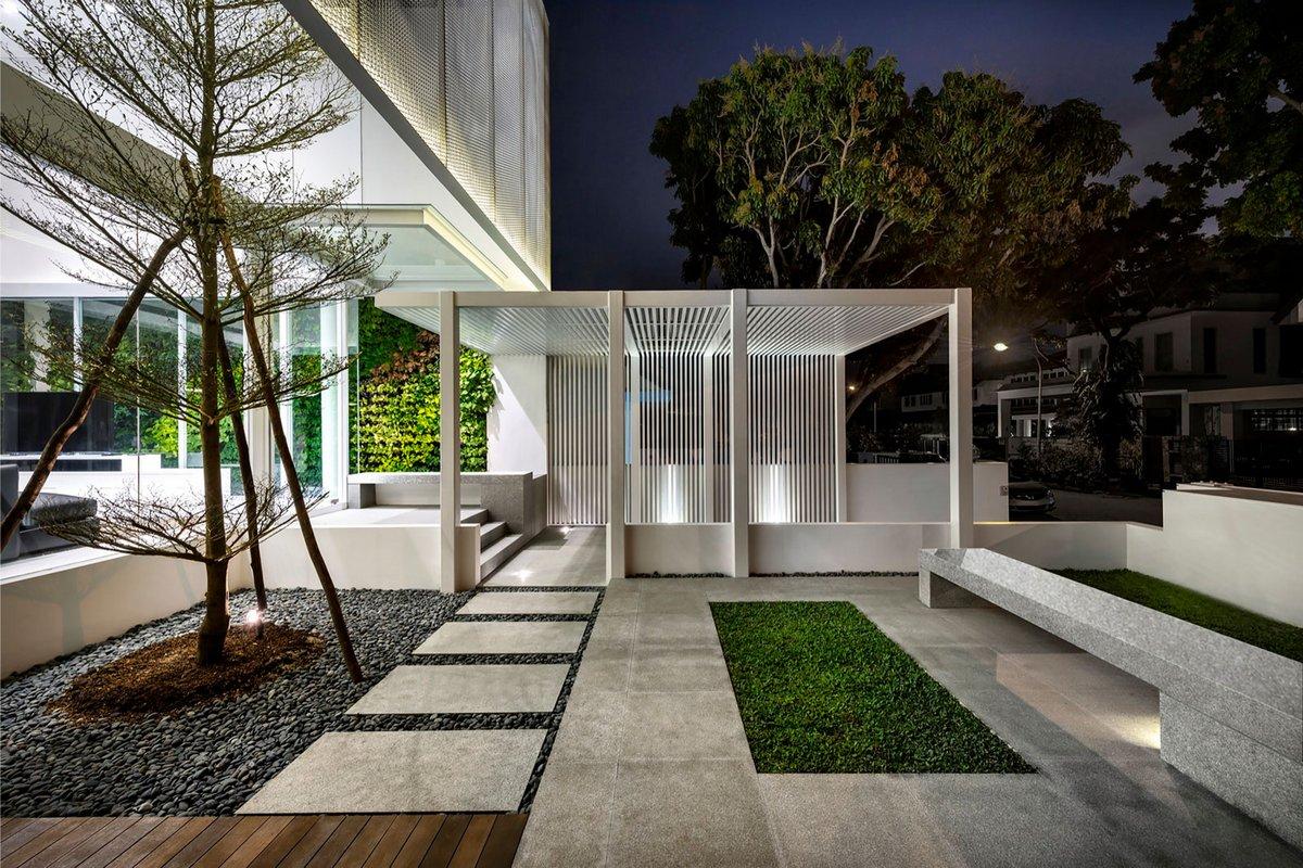 Park associates, оформление фасадов частных домов, оформление фасада частного дома фото, открытая планировка дома, отделка интерьера деревом фото