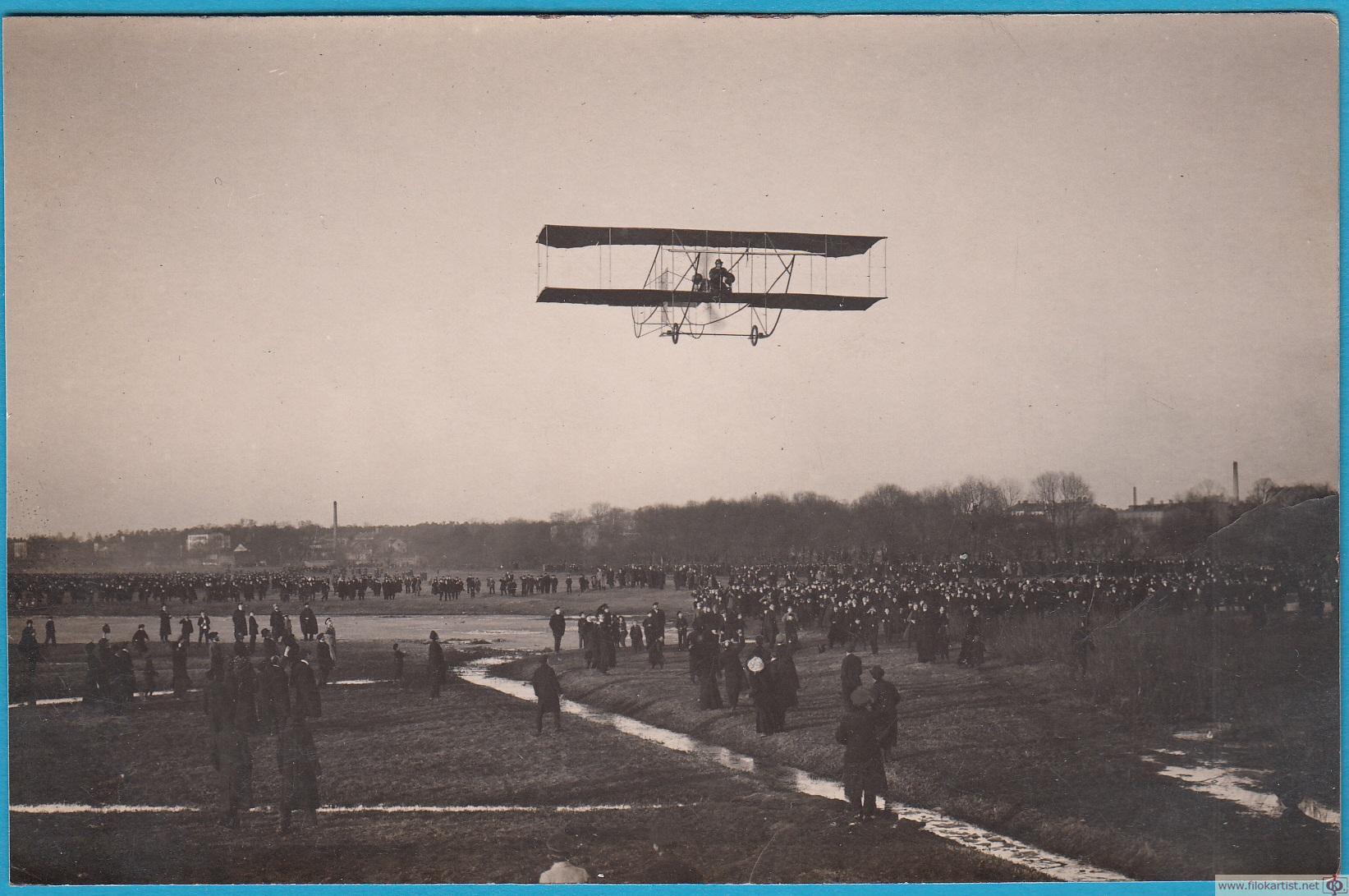Первый полет аэроплана Соммер в Риге 6.3.1911г.jpg