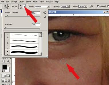 Как убрать мешки под глазами в Photoshop